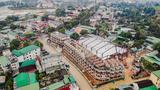 Cận cảnh chất lượng và tiến độ thi công thần tốc tại chợ Kim Sơn