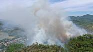 Rừng thông Hà Tĩnh lại bốc cháy dữ dội