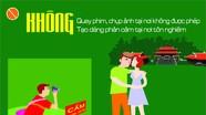 Nghệ An: Khuyến cáo du khách không ăn mặc, tạo dáng phản cảm tại nơi tôn nghiêm