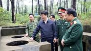 Đồng chí Nguyễn Đức Trung kiểm tra công tác xây dựng Sở Chỉ huy diễn tập khu vực phòng thủ