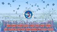 [Infographics] - Tầm nhìn chiến lược, mục tiêu phát triển của Trường Đại học Vinh nhiệm kỳ 2020-2025