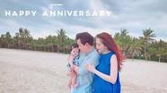Kỷ niệm 1 năm ngày cưới, hoa hậu Đặng Thu Thảo khoe chồng đẹp, con ngoan