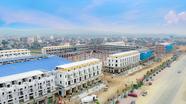 Trung tâm thương mại kết hợp chợ truyền thống Đô Lương chuẩn bị cất nóc