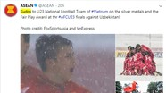 ASEAN chúc mừng U23 Việt Nam