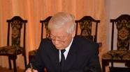 Lãnh đạo Đảng, Nhà nước xúc động ghi sổ tang viếng nguyên Thủ tướng Phan Văn Khải