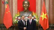 Chủ tịch nước đề nghị hai bên Việt - Trung xử lý tốt vấn đề trên biển