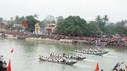 Sôi nổi lễ hội đua thuyền truyền thống ở Đền Cờn