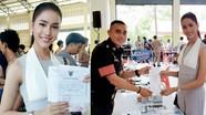 Hoa hậu chuyển giới Thái đăng ký đi nghĩa vụ quân sự