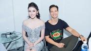 Á hậu Huyền My khoe vai trần quyến rũ bên diễn viên Kim Lý