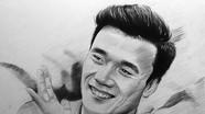 Chàng trai 9X thức trắng đêm vẽ chân dung các cầu thủ Olympic Việt Nam