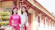 Đào Thị Hà và Hoa khôi Thúy Vi đọ sắc trong trang phục áo dài