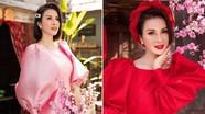 MC Thanh Mai diện áo dài Tết rực rỡ, trẻ đẹp 'không tì vết' ở tuổi 46