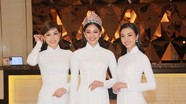 Dàn hoa hậu diện áo dài trắng, khoe sắc tại họp báo Hoa hậu Việt Nam 2020