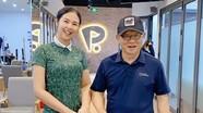 Hoa hậu Ngọc Hân khoe ảnh học golf cùng HLV Park Hang-seo