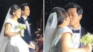 Công Phượng 'khóa môi' vợ ngọt ngào trong đám cưới
