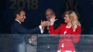 Nữ tổng thống của Croatia đã chiến thắng dù đội bóng bị thua!