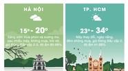 Thời tiết ngày 11/1: Bắc Bộ có mưa vài nơi, trời rét