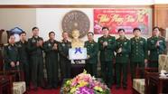 Bộ CHQS tỉnh Hủa Phăn chúc Tết Bộ CHQS Nghệ An và Bộ đội Biên phòng tỉnh