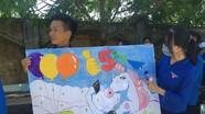 Vẽ tranh cổ động, làm thiệp Handmade cổ vũ thí sinh thi tốt nghiệp THPT