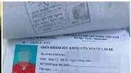 Bắt đối tượng chuyên làm giả giấy khám sức khỏe để thi giấy phép lái xe