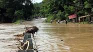 Lũ trên sông Cả tiếp tục dâng, cảnh báo sạt lở, ngập lụt ở Nghệ An