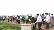 Hàng trăm nông dân thu gom vỏ thuốc bảo vệ thực vật, làm sạch đồng ruộng