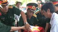 Quân khu 4 bàn giao hài cốt liệt sĩ cho tỉnh Nghệ An