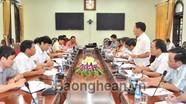 Thứ trưởng Bộ Tài chính Nguyễn Công nghiệp làm việc tại Nghệ An