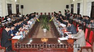 Lãnh đạo tỉnh Thanh Hóa thăm và làm việc với tỉnh Nghệ An