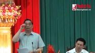 Đồng chí Lê Hồng Anh kiểm tra khắc phục bão lụt tại Nghệ An