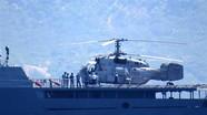 Trực thăng Ka-28 của Việt Nam hạ cánh trên tàu hộ vệ tên lửa