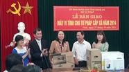 Sở tư pháp bàn giao 25 bộ máy vi tính cho tư pháp xã, phường