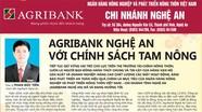 Agribank Nghệ An với chính sách tam nông