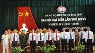 Đồng chí Lê Đức Cường tiếp tục giữ chức Bí thư Huyện ủy Quỳnh Lưu