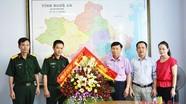 TX Thái Hòa, Lữ đoàn 215 chúc mừng Báo Nghệ An nhân Ngày Báo chí Cách mạng VN