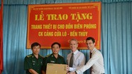 Tổ chức di cư quốc tế tặng quà đồn Biên phòng Cảng Cửa Lò–Bến Thuỷ