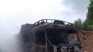 Quỳnh Lưu: Cháy xe tải chở than đá