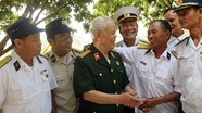 Cựu chiến binh đặc công Hải quân thăm đơn vị cũ