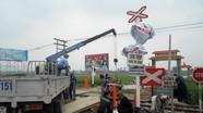 """Hai """"điểm đen"""" tai nạn đường sắt ở Nghi Lộc được lắp cảnh báo tự động"""