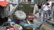 Xe đầu kéo đâm công nông, 1 người bị thương nặng