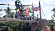 Khánh thành cầu treo bản Khe Yên, Môn Sơn - Con Cuông