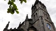 Nhà thờ đá Bảo Nham nhìn từ flycam
