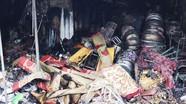 Cháy chợ  ở  Quỳnh Lưu, 3 ki ốt bị thiêu rụi