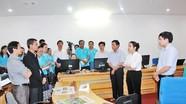 Các nhà báo TTXVN và KPL Lào thăm tòa soạn Báo Nghệ An