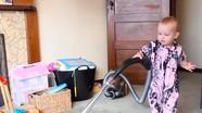 Video dạy trẻ dọn nhà của ông bố New Zealand