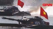 Xem xe tăng Việt Nam vừa bơi vừa bắn