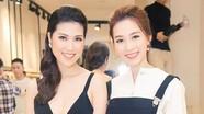 Hoa hậu Thu Thảo thanh lịch với trang phục trắng đen