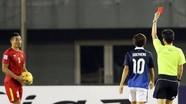 Treo giò một trận ở AFF Cup là án phạt cho thẻ đỏ của Đình Luật