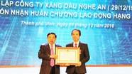 Công ty Xăng dầu Nghệ An đón nhận Huân chương lao động hạng Nhất
