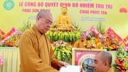 Công bố quyết định bổ nhiệm trụ trì chùa Phúc Yên